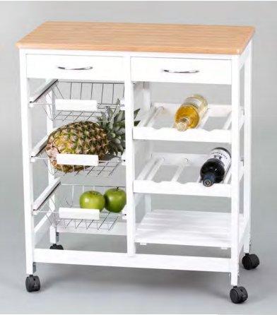 Kit Closet 7040028001 - Carro de cocina completo, madera