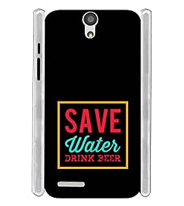Save Water Drink Beer Soft Silicon Rubberized Back Case Cover for InFocus M260