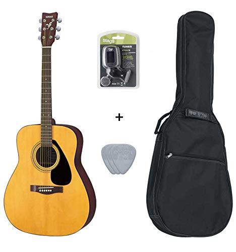 Pack Yamaha F310-Guitarra acústica (+ afinador, funda, 3Mediators)