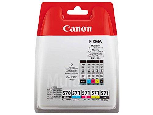 Canon original - Canon Pixma MG 6850 Series (PGI-570 CLI 571 / 0372 C 004) - Tintenpatrone MultiPack black black cyan magenta yellow