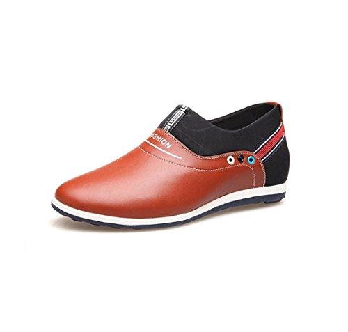 HYLM Estate Il nuovo all'interno della scarpa degli uomini di aumentare Versione coreana Scarpe casual confortevoli traspiranti Brown
