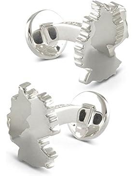 ZAUNICK Deutschland Manschettenknöpfe Silber 925 handgefertigt