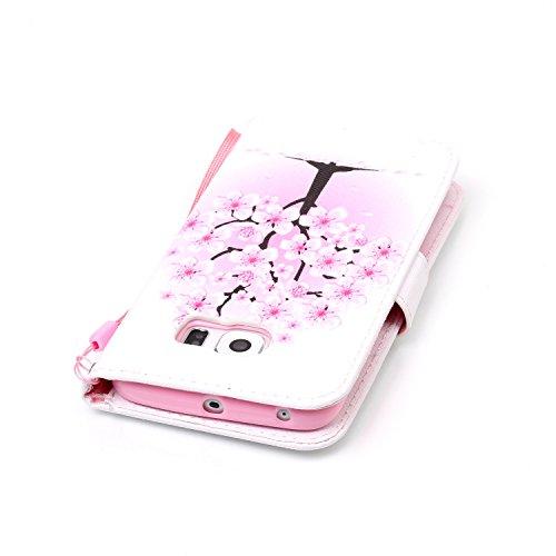 PU Coque Galaxy S6 Edge, Multifonction Case Wallet Cover Etui en cuir Étui de protection flip Wallet stand Cover avec des fentes de cartes pour Samsung Galaxy S6 Edge +Bouchons de poussière (7OO)