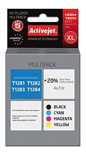 Preisvergleich Produktbild ActiveJet EXPACJAEP0251 Tinte AE-M1285R Refill für Eps T1285, Multipack, schwarz/cyan/magenta/gelb