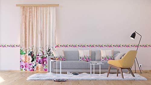 AG Design Flora & Holz, Vorhänge für Wohnzimmer, Küche, Schlafzimmer, 140 x 245 cm