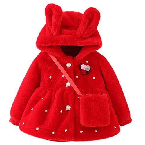 i-uend 2019 New Baby Mantel, Neugeborene Mädchen Faux Pelzmantel Dicke Flusen Warme Dicke Plus Mantel Oberbekleidung Für 0-24 ()