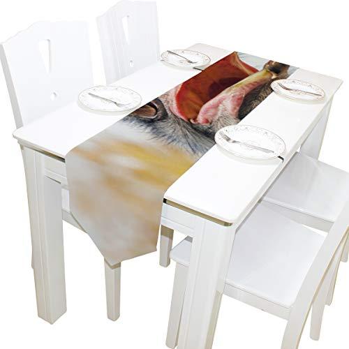 Yushg Verwirrt Strauß Wüste Kommode Schal Tuch Abdeckung Tischläufer Tischdecke Tischset Küche Esszimmer Wohnzimmer Home Hochzeit Bankett Dekor Indoor 13 x 90 Zoll -