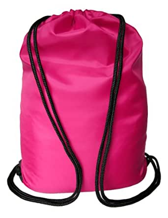 Top Quality Drawstring Gym bag | School PE bag or Sports bag. 33x45cm - 8 colours by Topsport (Cerise Pink)
