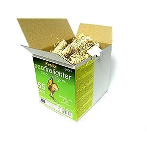 Pastillas – Encendedores de barbacoa Feniks unidades en la caja 50 + 5 = 55, para chimeneas, estufas, barbacoas y fogatas