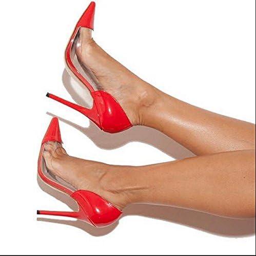 Xue Qiqi Zapatos de la Corte Zapatos de Tacón Alto Zapatos de Tacón Alto Bombas de Tacón de Aguja Zapatos de Mujer...