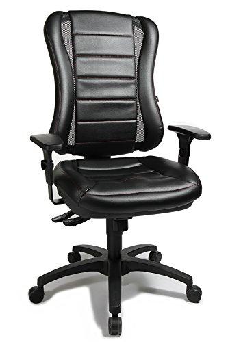 Bürostuhl Head Point RS inklusive Armlehnen / Polsterung in schwarz / rote Steppnaht