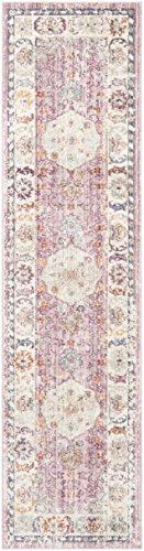 Safavieh Modische Teppich, ILL708, Gewebter Viskose Läufer, Rose / Creme, 62 x 240 cm - Safavieh Transitional Teppiche