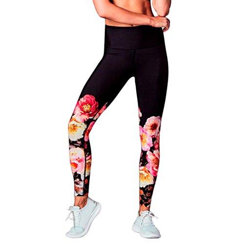 TUDUZ TUDUZ Damen Yoga Leggings Sport Gym Yoga Workout Mid Waist Running Fitness Elastische Pants Sporthose Sportbekleidung (Schwarz, S)