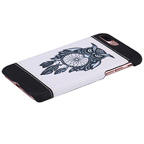 iPhone 7 Plus Coque,iPhone 7 Plus Case,iPhone 7 Plus Cover - Felfy Super Slim Mince PC Plastic Case Motif de Couleur Design Coque Housse de Protection Etui Anti Scratch Antichoc Case Cover Case Bumper Hibou