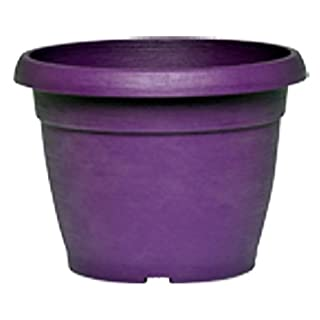 VASO SIMILCOTTO Brushed Round Purple 40 cm