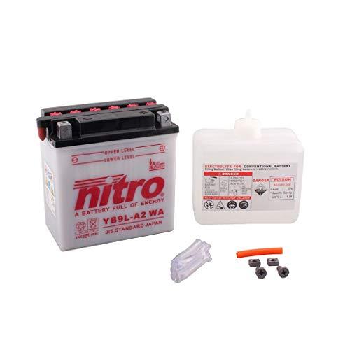 Batterie 12V 9AH YB9L-A2 Blei-Säure HC Nitro 50916 RT 125 Stryker 06-08 Stryker Batterie