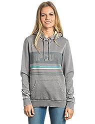 Rip Curl Active Stripe Fleece - Sudadera para mujer, color gris claro, talla XS
