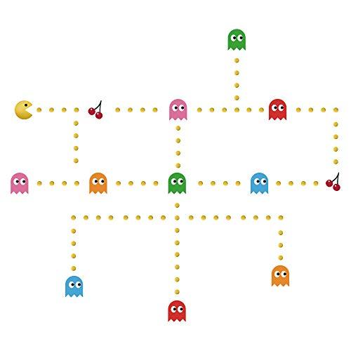 Eur 1228 Acheter Decalmile Pac Man Stickers Muraux Chambre Bon