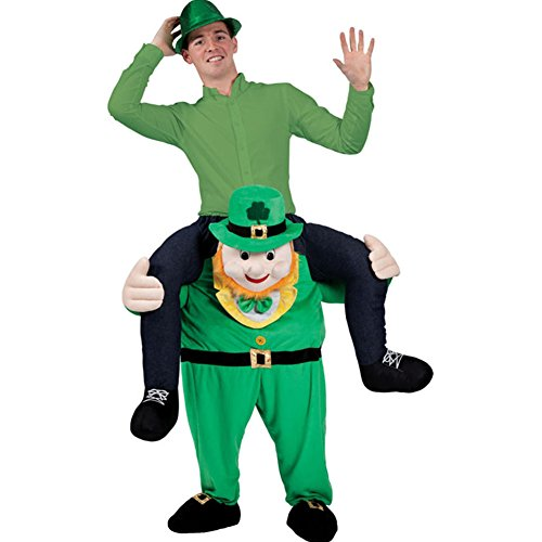 Carry Me Buddy Ride On Shoulder Piggy Back Ride Leprechaun Costume Mascot Adult