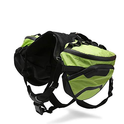 PQXOER-PE Hundesatteltasche, 2 in 1, abnehmbare Haustier-Reisetasche, Nylon, Rucksack, Satteltaschen, Rucksack, Reisezubehör, Hunde mit Schnellentriegelung