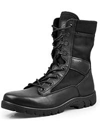 wthfwm Botas para Hombre Botas de Trabajo tácticas Militares ultraligeras Altas y con Cordones Botas Transpirables