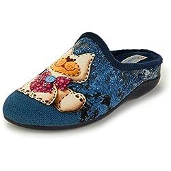 Tanahlot Zapatillas de Estar por casa para Mujer 8451251 Gato Azul Turquesa 39 EU