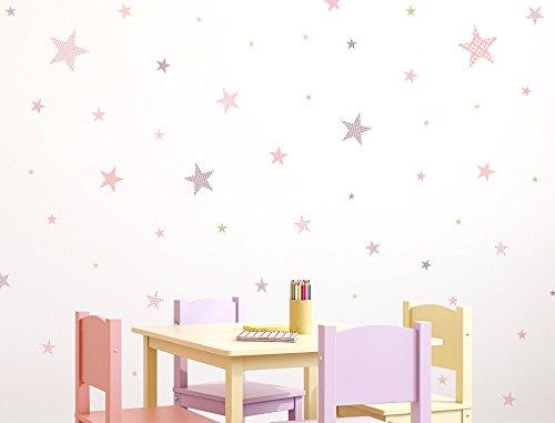 I-love-Wandtattoo Pegatina de Pared Set habitación Infantil Estrella con Las pautas de...