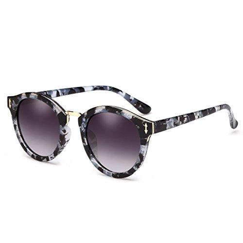 ZHIRONG Lunettes de soleil polarisées rondes rétro femmes, plage, voyage, conduite, lunettes de soleil, ( Couleur : 05 )