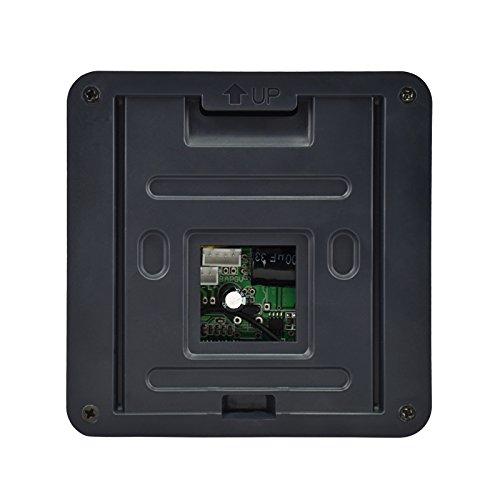 KUFENG 7 Inch Black Video Door Phone Night Vision Doorbell Entry System Intercom Kit 1-camera 1-monitor