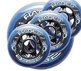 Base Rage.2 Hockey Lange Haltbarheit für Streethockey und Inlinehockey Outdoor Pro Rolle 4er Set