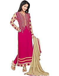 Womens's And Girl's New Georgette Fabric Anarkali Dress Material(se2 5027_Free Size)