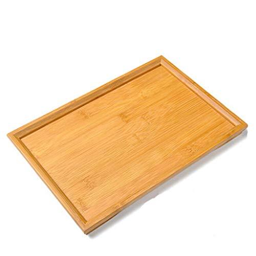 CYGJLYZ Tablett kleine Tee-Tablett Kung Fu Tee-Set Teezeremonie Zubehör Bambus Tee-Tablett Tee Meer Tee-Tablett Tee Kaffee-Tablett Massivholz (Size : 33 * 21 * 2CM) -