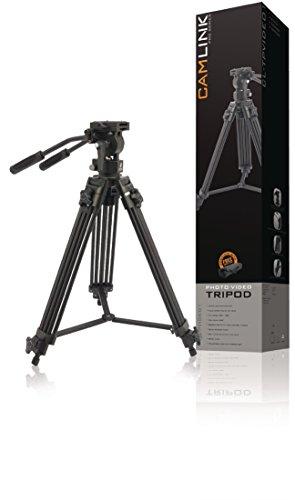 Camlink TPVIDEO1 Video-Stativ (mit Tragetasche und Pro Video Fluidkopf - Video-stativ Fluidkopf