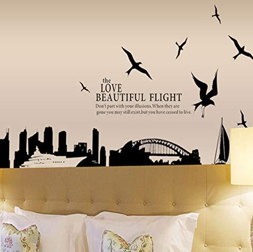 (Zxfcczxf Große Stadt Silhouette Von Sydney BridgeAufkleberwandaufkleberpvc-Dekor Removable Diy Home Zimmer Haus Aufkleber Home Dekor)