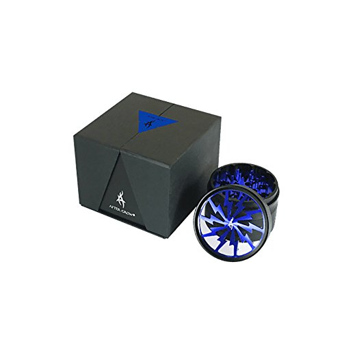Grinder thorinder Alluminio 62 mm 4 Parti Blu