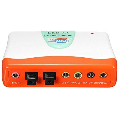 TOOGOO (R) Externer Adapter USB-7.1 Audiokanaele 5.1 Optischer Audio-Soundkarte fuer Win7 8