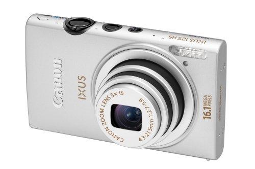 Canon IXUS 125 HS Digitalkamera (16 Megapixel, 5-fach opt. Zoom, 7,5 cm (3 Zoll) Display, Full HD, bildstabilisiert) silber