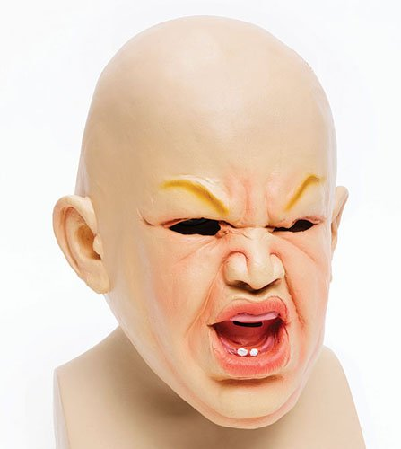 y Kostüm Halloween-Maske (Chucky Kostüm Für Babys)