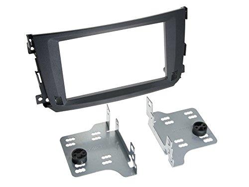 2-DIN Radioblende Smart ForTwo Facelift, schwarz