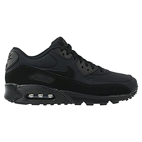 Nike Herren Air Max 90 Essential Low-Top, Schwarz (Black/Black/Black), 44 EU