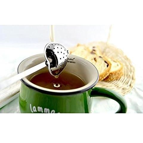 preadvisor (TM) en forme de cœur en acier inoxydable passoire à thé cuillère Infuseur Boule Plus Accentuée Poignée de douche