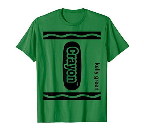Dunkelgrün Zeichenstift Kasten kelly green Crayon Halloween T-Shirt
