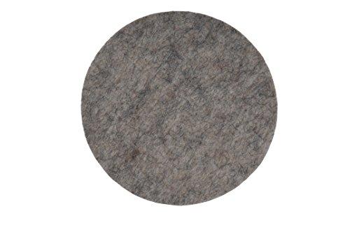 HOME OF AN ANGEL Untersetzer aus Filz in Hellgraumeliert (Set bestehend aus 4 Stück, Kreis, Durchmesser 10 cm, Dicke 3 mm, Qualität 100% Wollfilz)