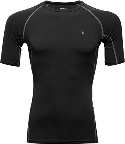 KomPrexx Mens Compression Tops - UV CUT - Fitness Running Base Layer T Shirts Short Sleeve