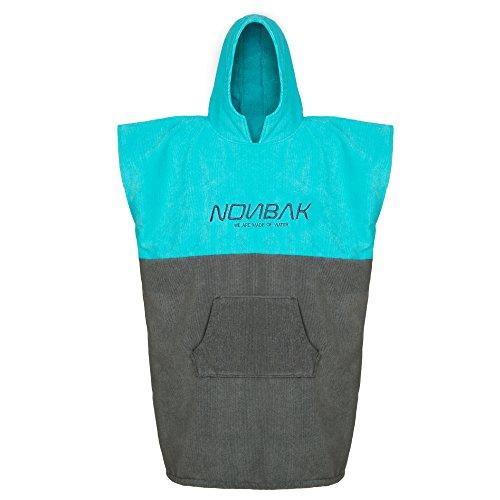 Nonbak poncho surf, micro-algodón 250 gr, A 2 colores gris y verde, Talla S/M