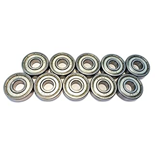 FreeWheeling Pack de 10 Roulements à rotule sur billes Métal 608ZZ - ABEC 3 - Dim. 8x22x7 mm | 1117547