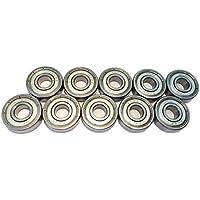 FreeWheeling Paquete de 10 Rodamientos esféricos Doble la hoja de metal 608ZZ - ABEC 3 - Dim.8x22x7 mm | 1117547