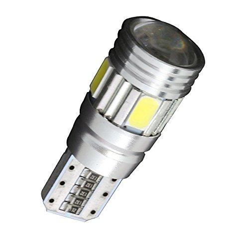 ZGMA 4pcs T10 Automatique Ampoules électriques SMD 5630 180lm 6 Éclairage intérieur White DC12V T10