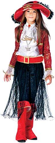 Costume di carnevale da lady corsara vestito per ragazza bambina 7-10 anni travestimento veneziano halloween cosplay festa party 3862 taglia 9/l