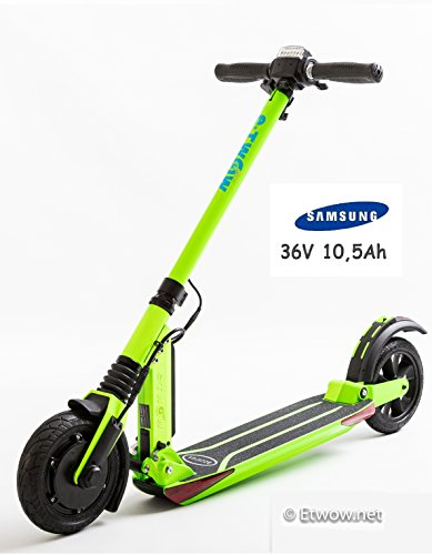 E-Twow Booster V Samsung 10,5Ah Patinete,Verde, Talla Única